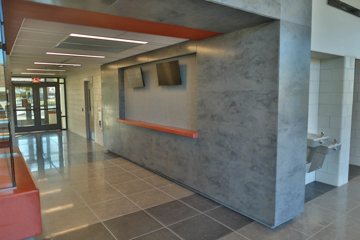 Solid Surface Wall Cladding : Muskegon transit cms architectural products