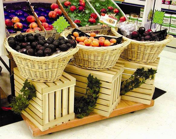 Smooth Wood Crate CMS Display Fixtures