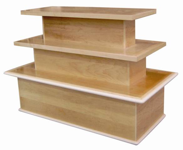 3 tier bakery table cms display fixtures for Display table